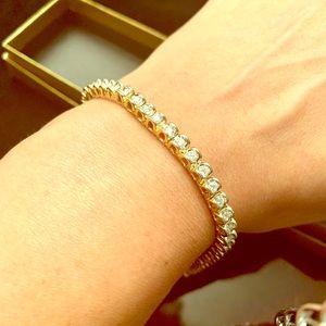 Jewelry - 3ct TW diamond tennis bracelet 14k gold wht 18.6g